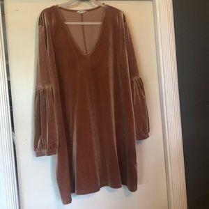 Madewell gold velvet dress